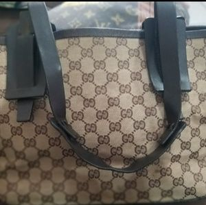 AUTHENTIC VINTAGE GUCCI BROWN TOTE STYLE BAG